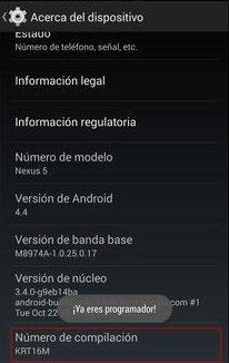 Cómo habilitar las opciones de desarrollador en Android