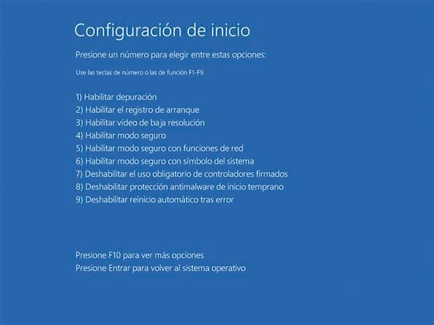 inhabilitar uso obligatorio de controladores firmados Windows 8, 8.1 y 10