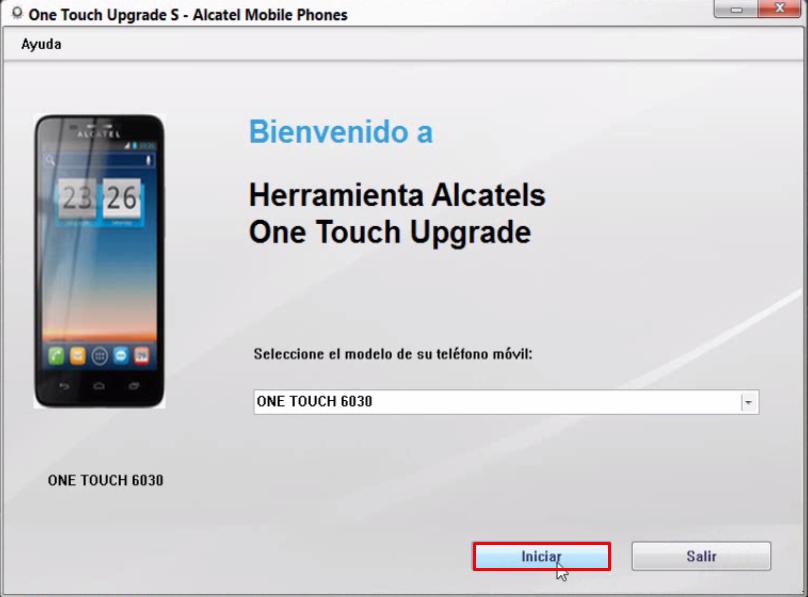 Actualización de software ALCATEL ONE TOUCH