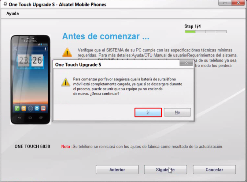 Como Flashear Alcatel One Touch