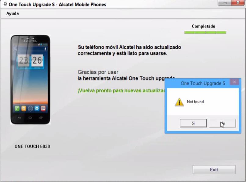 descargar software upgrade Alcatel