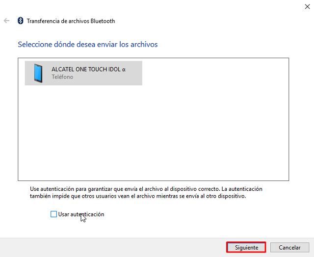 Cómo recibir archivo por Bluetooth