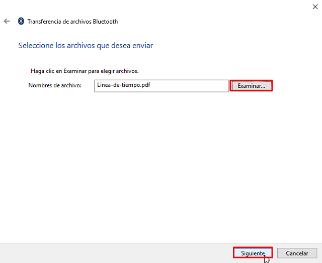 No puedo enviar archivos desde mi móvil al PC por Bluetooth