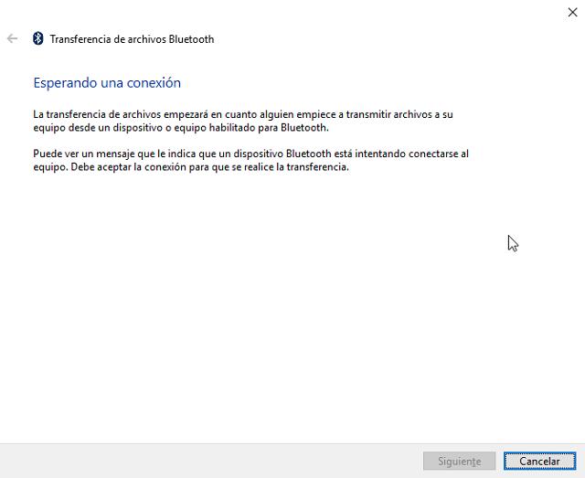 solución al enviar documentos por Bluetooth