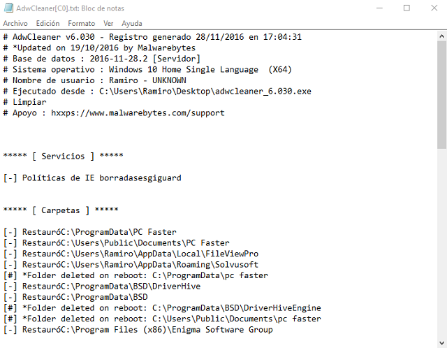 desinfectar pc y navegador de virus emergentes