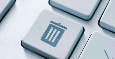 eliminar un archivo o una carpeta en Windows