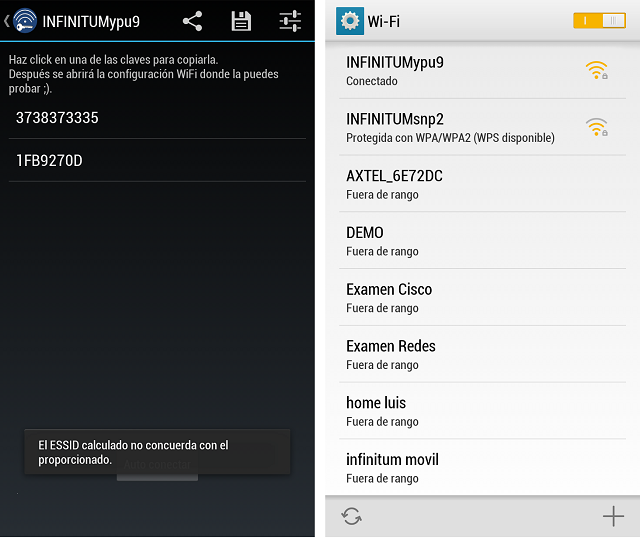 Hackear claves wifi desde tu android