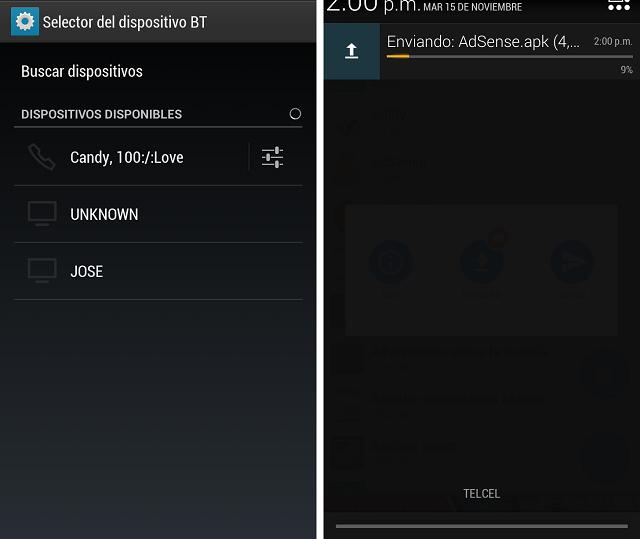 Cómo pasar aplicaciones por Bluetooth