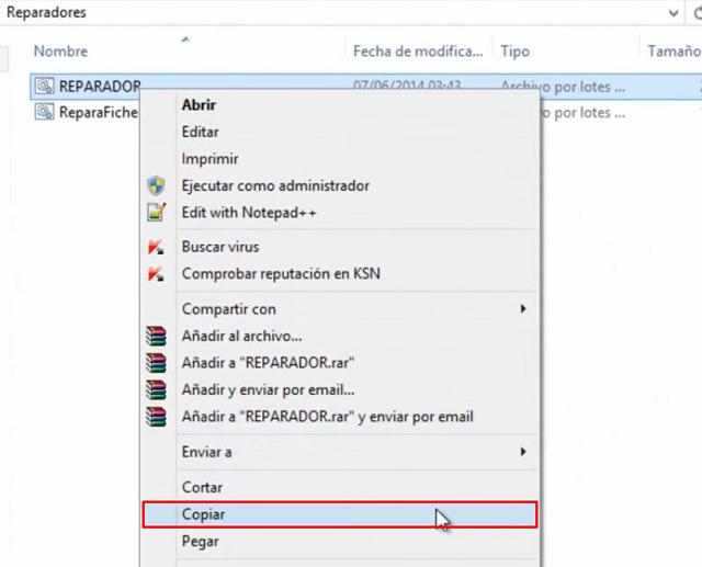 Eliminar Virus acceso directo en memoria USB