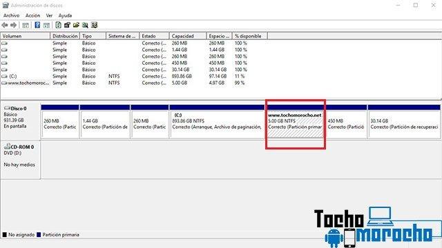 Como crear particiones y dar formato a los discos duros en Windows