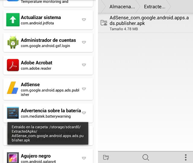 Cómo extraer el Apk de las aplicaciones instaladas en tu móvil