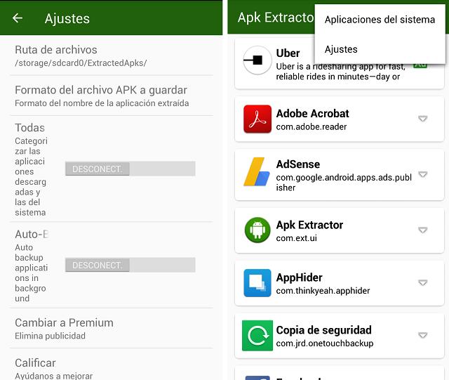 Cómo extraer y guardar un APK de cualquier aplicación