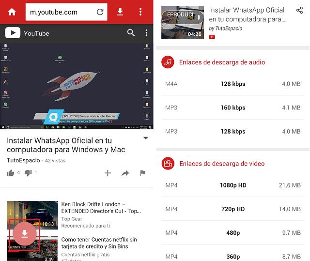 Cómo bajar vídeos de YouTube en Android
