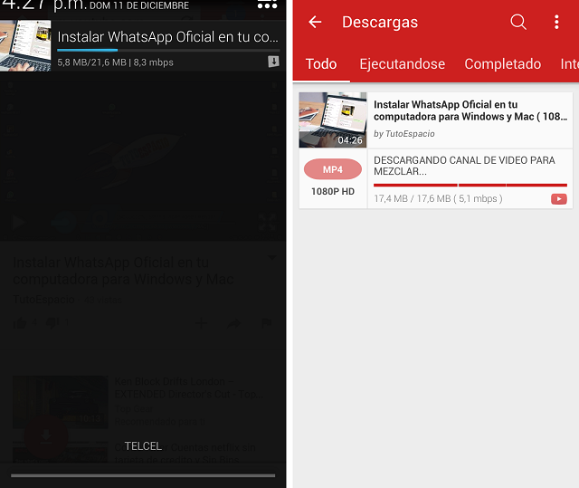 Cómo bajar música de YouTube desde Android
