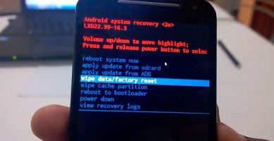 HARD RESET del Motorola Moto E, G y X