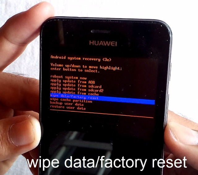 Resetear Android en Huawei Ascend