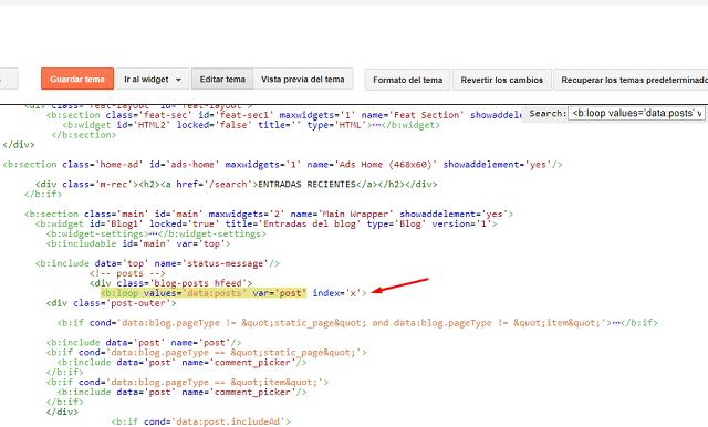 Cómo poner anuncios In-Feed en la página principal en Blogger