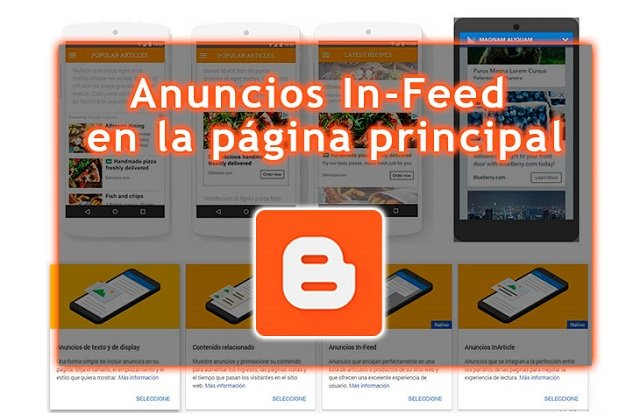 Cómo colocar el código de un anuncio In-feed en la página principal