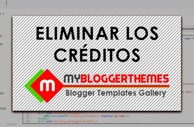 How to remove 'Blogger Templates Created By'