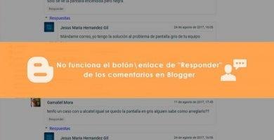No funciona el botón enlace de Responder de los comentarios en Blogger