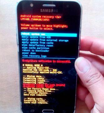 Como resetear el Samsung Galaxy J2