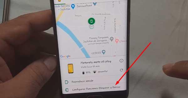borrar la cuenta de Google en Motorola Moto E5 Play