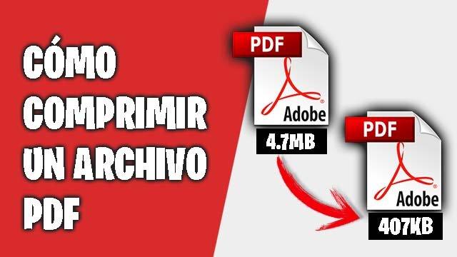 como comprimir un archivo pdf