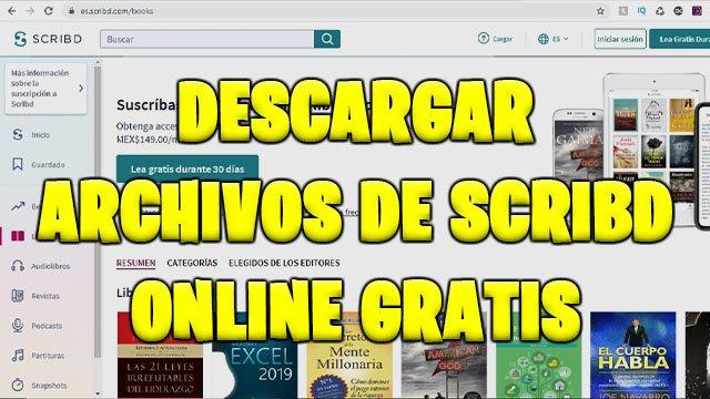 Descargar archivos de SCRIBD online gratis