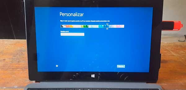 formatear tablet windows surface