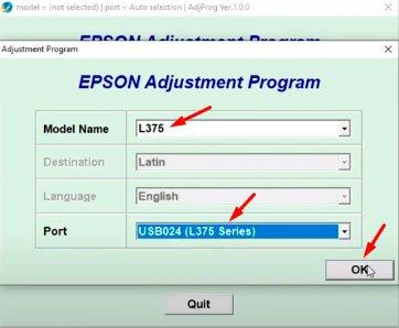 reset epson l375 + keygen